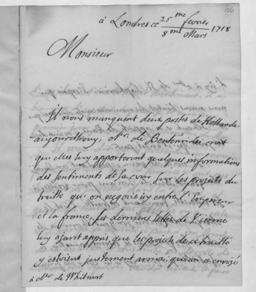 La correspondència britànica de la primera meitat del segle XVIII porta habitualment una doble datació: segons el calendari julià (superior) i gregorià (inferior). A partir de 1700 i fins a 1800, entre els dos calendaris hi havia 11 dies de diferència. Biblioteca Britànica.
