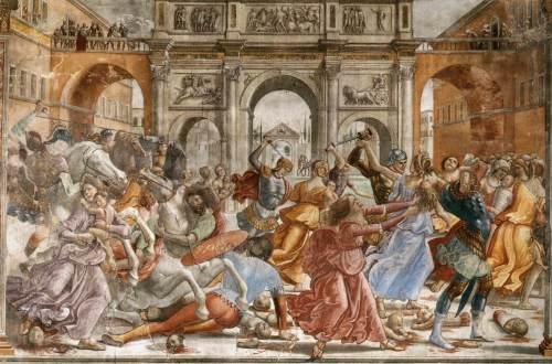 'La matança dels innocents', de Domenico Ghirlandaio