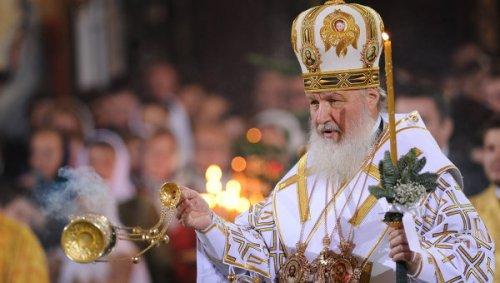 Kiril, Patriarca de Moscou i de Tota Rússia, oficia la celebració de la Missa de Nadal a la Catedral de Crist Salvador. 7 de gener de 2012. RIA Novosti.