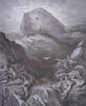 Gustave Doré. Noè envia un colom sobre la terra