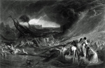 The Deluge, engraved by J.P. Quilley 1828 by Joseph Mallord William Turner 1775-1851