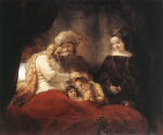 Rembrandt. Jacob beneeix fillsJ