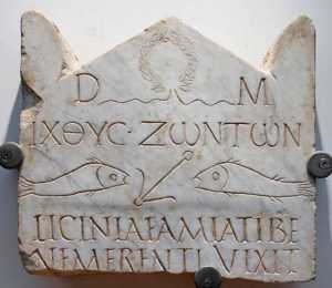 foto Ichthys làpida funerària