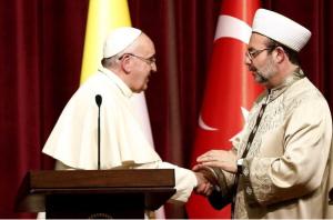 foto papa francesc i el gran muftí d'Istambul