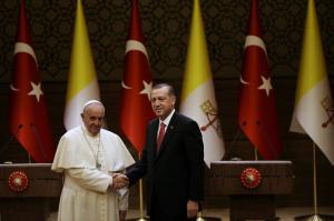 foto papa francesc i Recep Tayyip Erdogan