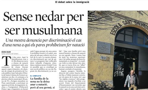 premsa discriminació nena musulmana